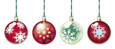 Ornamental christmas balls Stock Images