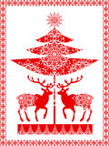 Ornamental christmas card Stock Images