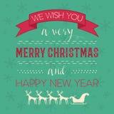 Ornamental Christmas greeting card Stock Photography