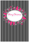 Ornamental christmas postcard Stock Image