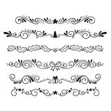 Ornamental christmas text dividers Royalty Free Stock Photo