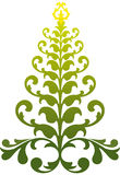 Ornamental christmas tree. Victorian christmas tree, vector background Royalty Free Stock Photo