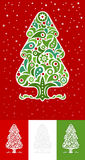 Ornamental Christmas Tree set Stock Image
