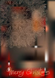 Ornamental circle christmas snowflake background, Stock Images