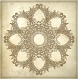 Ornamental circle floral pattern in grunge Stock Images