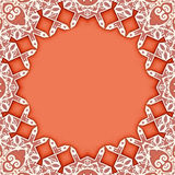 Ornamental circle frame background Stock Images