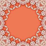 Ornamental circle frame background stock images