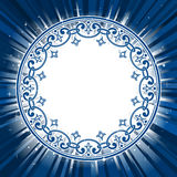 Ornamental circle frame on star burst  Stock Image