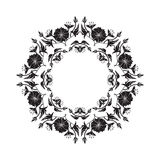 Ornamental circle frame Royalty Free Stock Images