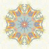 Ornamental circle mandala. Floral mandala circle background. Ornamental card royalty free illustration