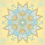 Ornamental circle mandala. Floral mandala background. Ornamental card royalty free illustration