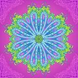 Ornamental circle mandala. Round floral mandala background. Ornament background card royalty free illustration