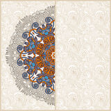 Ornamental circle template with floral background Royalty Free Stock Photography