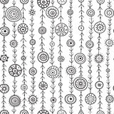 Ornamental circles on lines  seamless pattern Royalty Free Stock Photos