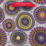 Ornamental circles pattern in folk style. Stock Photos