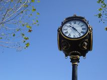 Ornamental city clock Stock Photo