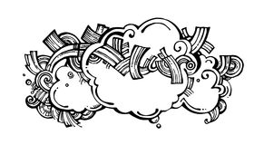 Ornamental cloud with ornament stock photo