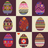 Ornamental color easter eggs Royalty Free Stock Photo