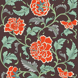 Ornamental colored antique floral pattern Stock Photography