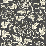 Ornamental colored antique floral pattern. Royalty Free Stock Images