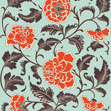 Ornamental colored antique floral pattern. Vector illustration Royalty Free Stock Photos