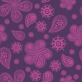 Ornamental colored seamless floral pattern Royalty Free Stock Images
