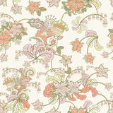 Ornamental colored seamless floral pattern Stock Image