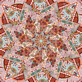 Ornamental Colorful Carpet Background Stock Photography