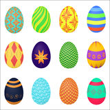 The ornamental colorful Easter eggs variety vector illustration. The ornamental colorful Easter eggs variety vector illustration Stock Photos