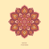 Ornamental colorful floral mandala,  hand drawn geometric patter Royalty Free Stock Photo