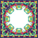 Ornamental colorful frame and place for text. Ornament in east style. EPS10 Royalty Free Stock Photos