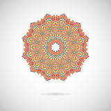 Ornamental colorful mandala. Stylish geometric pattern in orient Stock Image