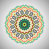 Ornamental colorful  round geometric pattern in Royalty Free Stock Photography