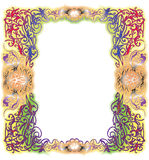 Ornamental colorful vector frame Stock Photography