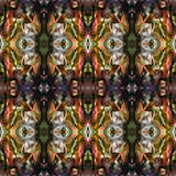 Ornamental Colourful Seamless High Resolution Pattern in warm colours vector illustration
