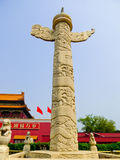 Ornamental column-tiananmen- Beijing Royalty Free Stock Images