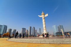 Ornamental column in Xinghai square Royalty Free Stock Image