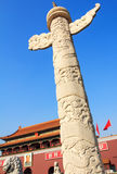 Ornamental columns. In Tiananmen,Beijing Royalty Free Stock Photography