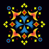 Ornamental composition 1. Color ornamental composition of individual elements on a black background Royalty Free Stock Images
