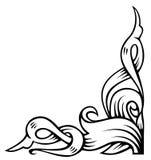 Ornamental corner. Floral decoration, ornamental corner, vector illustration Royalty Free Stock Photos