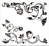 Ornamental corner designs Stock Images