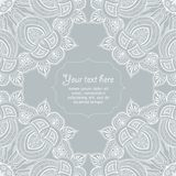 Ornamental corner lace frame. Vector background for celebrations and holidaysYou can use it for crafts and scrapbooks Royalty Free Stock Images