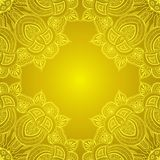 Ornamental corner lace frame. Vector background for greeting card or banner Royalty Free Stock Image