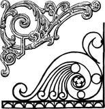 Ornamental corners Stock Photos