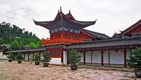 Ornamental courtyard of palace in lijiang, china Stock Photo