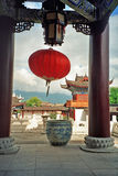 Ornamental courtyard of palace in lijiang, china Stock Images