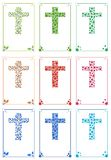 Ornamental cross cards Stock Photos