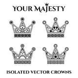 Ornamental Crowns Stock Photos