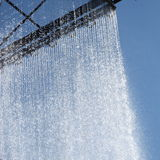 Ornamental curtain of running water Royalty Free Stock Photo