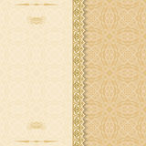 Ornamental Damask pattern. Vintage background, useful for greeting and luxury postcard; ornamental pattern template in design, decorative page cover Royalty Free Stock Photo